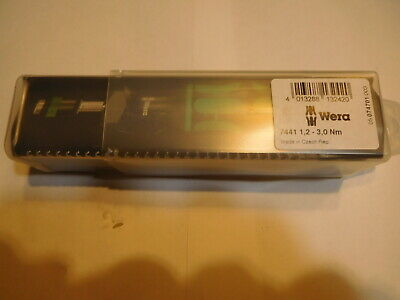 New Wera 14 In Hex Adjustable Torque Screwdriver 1.2 - 3nm Pn 7441