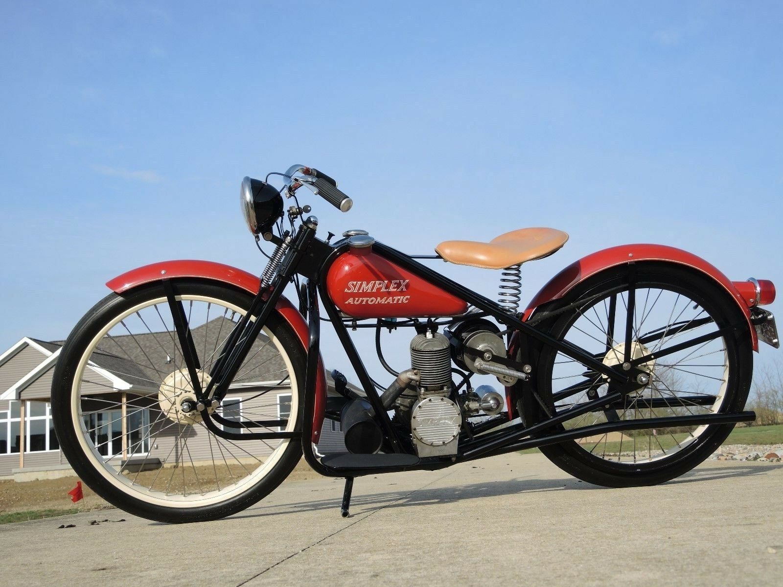 Used Cars New Orleans >> 1958 Simplex / Servi-cycle / Wizard Automatic Motorcycle, 150cc, 2-cycle, Runs!