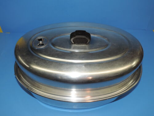 """VTG SEARS MAID OF HONOR HEAVY WEIGHT ALUMINUM OVAL ROASTER PAN 16"""" VENT LID"""