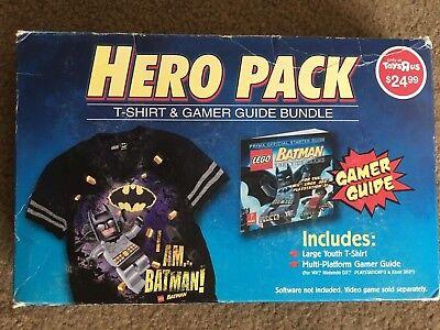 Lego Batman Hero Pack T-Shirt and Guide Bundle [Toys'R'Us Exclusive] - NIB