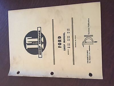 It Ford Shop Tractor Shop Manual 1100 1200 1300 1500 1700 1900