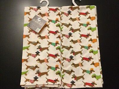 Set Of 2 Fall Halloween Dog Puppy Costume Pets Cotton Dish Bar Tea Towels Cloth](Halloween Tea Towels)