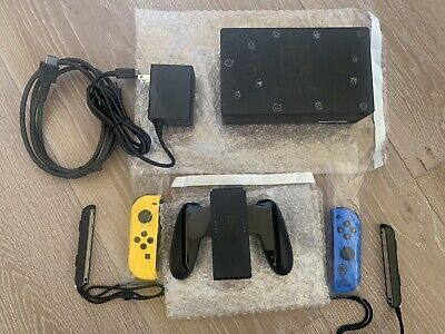 Nintendo Switch Fortnite WILDCAT Edition Joycons,Straps,Grip,Dock, And Charger