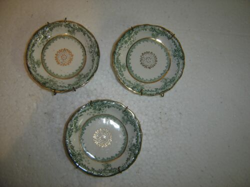 Antique Butter Pats with Plate Hangers John Murdock Royal Vitreous England 349