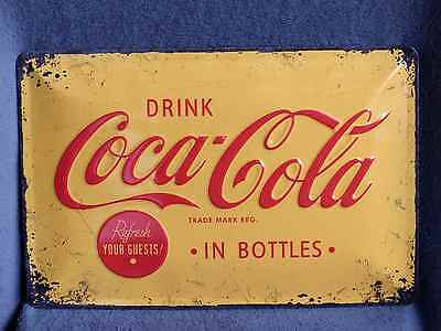 Blechschild Drink Coca Cola  in Bottles Coke 20 x 30 cm Neu/OVP