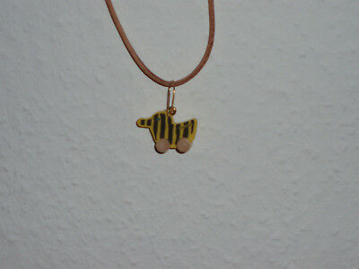 Tigerente Janosch als Lederhalskette *neu*