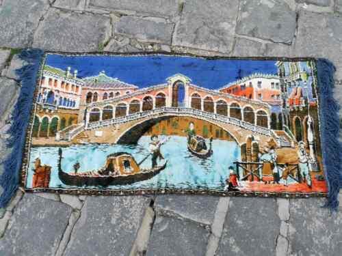 Vintage velvet tapestry, tapestry of Venice