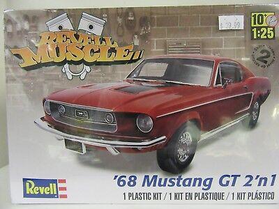 1968 Mustang GT 2' n 1 Plastic Model Kit NIB