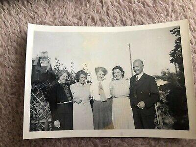 Men's 1920s Style Ties, Neck Ties & Bowties Vintage Old Family Photograph Four Ladies Dresses Man Jacket Tie Garden 1920's $2.80 AT vintagedancer.com