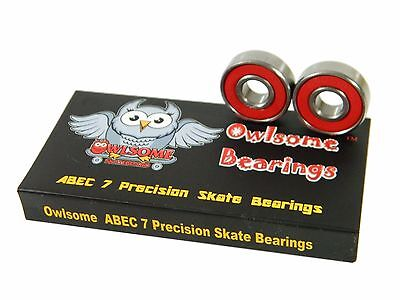 Owlsome ABEC 7 Precision Skateboard Longboard Inline Skate 8mm 608 Bearings