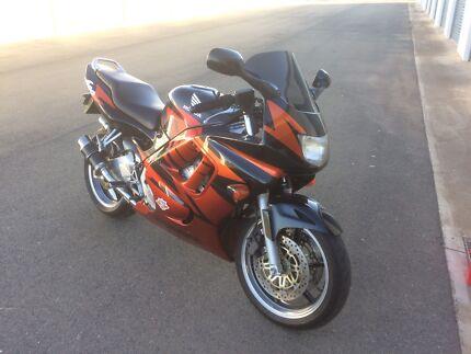 Honda CBR600 sports motorcycle