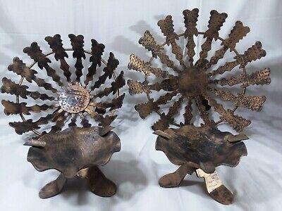 4-pc Vintage Action handcrafted Spain Metal bowls & ashtrays black/bronze retro