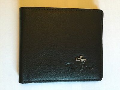 Mens Wallet Leather Black Credit Card ID Holder Slim Wallet With Zipper The