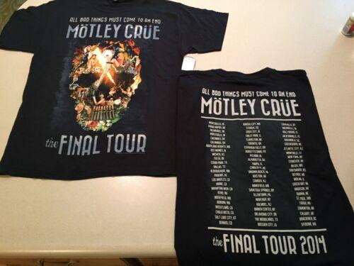 Motley Crue 2014 concert final tour men Medium Shirt Authentic Rare NEW The Dirt