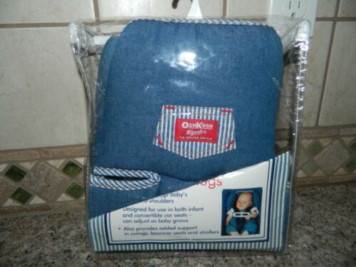 NIP OSHKOSH CLASSICS Blue Denim Infant CAR SEAT HEAD SUPPORT Baby Hugs NEW