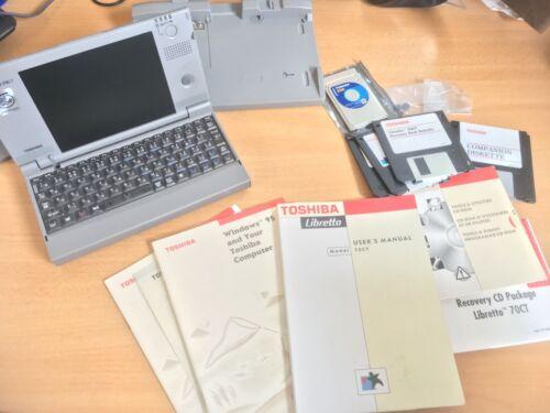 RARE TOSHIBA Libretto 70CT 16GB SSD !! Pentium 120MHz MMX 32MB UMPC DOS PC games