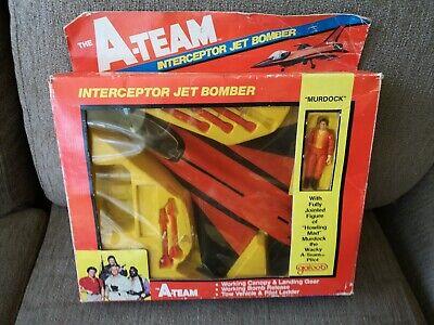 Vintage 1983 Galoob A Team A-Team Interceptor Jet Bomber