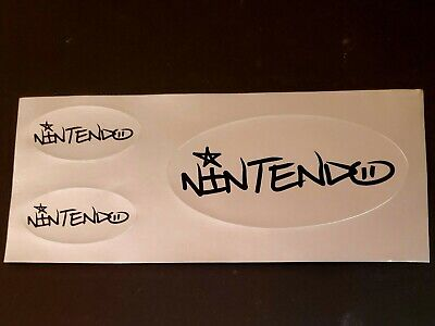 Promotional-only Official Nintendo Logo Sticker Sheet 2004 Promo NEW VERY -