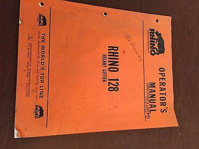 Rhino Rotary Cutter Operators Manual Model 128