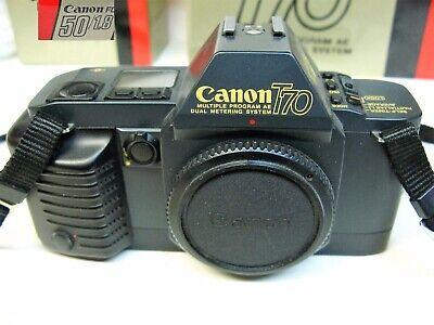 Canon T70 Camera w/ F/1.8 Lens Mint In Box Best Manual Camera Canon Ever