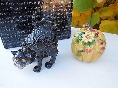 NEW FITZ & FLOYD HALLOWEEN HARVEST SALT & PEPPER SHAKER](Fitz And Floyd Halloween Harvest)