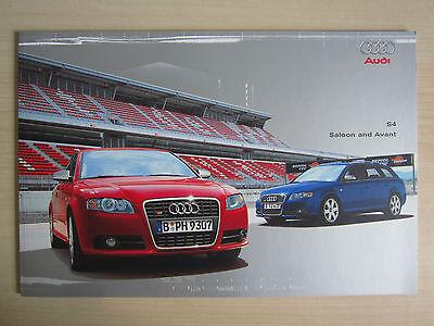 Audi S4 UK Sales Brochure (2004)
