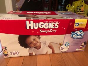 Huggies 198pc Diapers Size 5