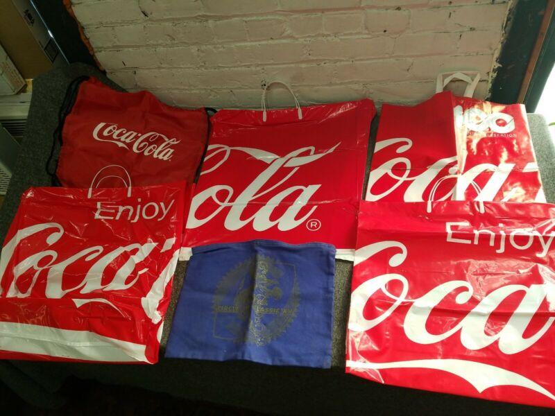 Coca Cola Collector Bag Lot of 6 *SEE PICS & READ