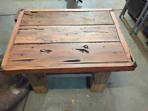 Rustic Redgum Table and 2 Bench seats