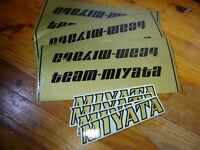 Set of 4 sku 904 Miyata Black//Gold Stripe Decals