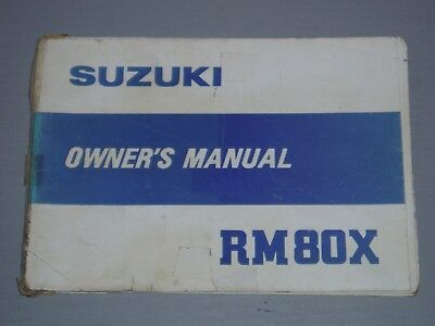 SUZUKI RM80X OWNERS / WORKSHOP MANUAL