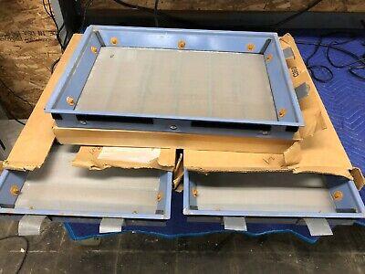 Lot 3x Gilson Porta-screen 100 Tray Portable Sieving Screen Shaker Trays Used
