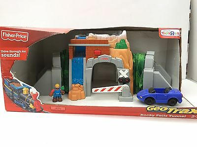 Fisher-Price GeoTrax Rocky Falls Tunnel 2009 Toys R Us Exclusive NIP Figure Car