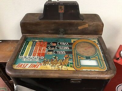Vintage Jennings Fast Time Horse Racing Nickle Arcade Game