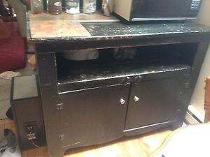 Black hutch / table