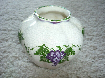 LOVELY PUMPKIN SHAPED VASE, HAND MADE, CONCORD (MA.) POTTING SHED, SIGNED for sale  Greenville