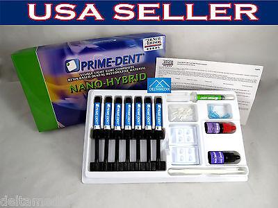 Nano Hybrid Dental Composite 7 Syringe Kit Complete Set Prime Dent Usa