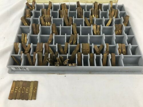 New Hermes 35 016 Old No 1 Brass Engraving Set Letters Numbers - 125 Pieces L9