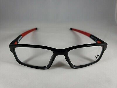 NEW!! Oakley Crosslink Scuderia Ferrari Eyeglasses Satin Black OX8041-0956 56*17