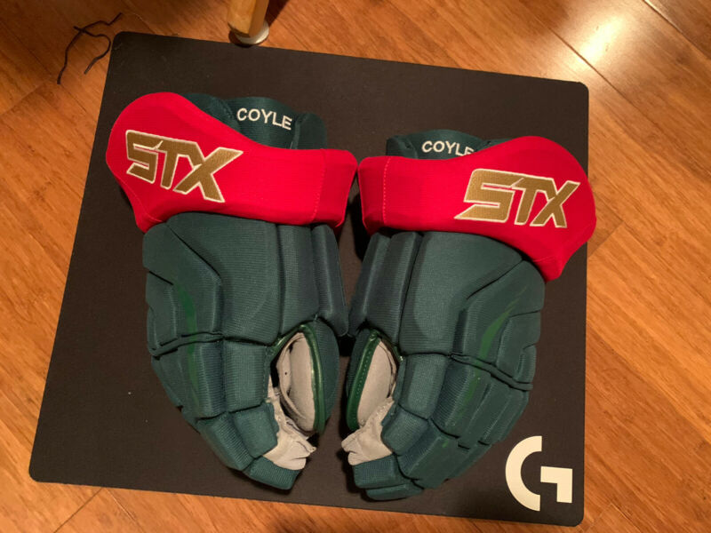 STX Surgeon Pro Stock/Return Hockey Gloves - Charlie Coyle - Minnesota Wild