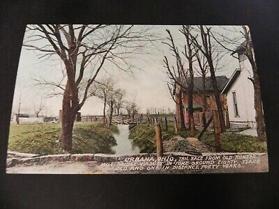 Orion Collection Bridge (Urbana Ohio OH Vintage 1910's Tail Race Postcard Hunter Mill Viaduct Bridge)