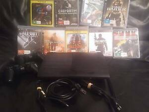 PS3 PLAYSTATION 3 W/ 9 GAMES 2 CONTROLLERS ALL CABLES Geelong Geelong City Preview