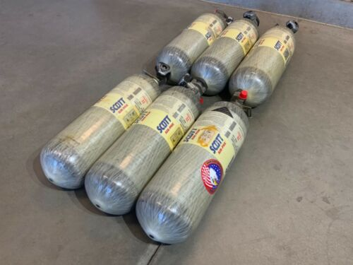SCOTT 4500PSI 45MIN SCBA Carbon Fiber Bottle Tank Cylinder 2010 CGA347 Valve