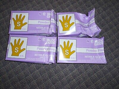 Nitrile Powder Freelatex Free Food Service Gloves -size Small 6-6.5 4 Boxes