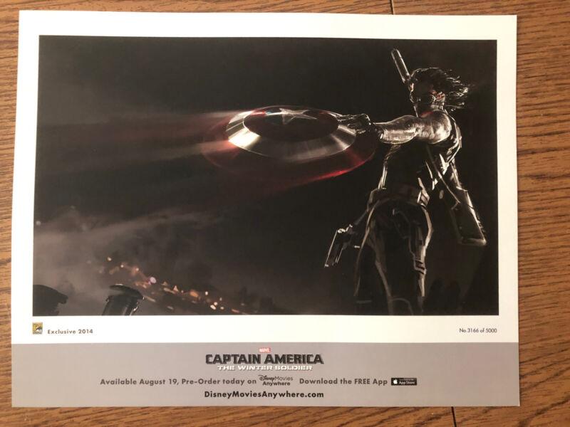SDCC 2014 Exclusive Captain America Winter Soldier Concept Art Ltd. 5000 Marvel