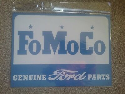 metal wall sign ford official licensed product fomoco