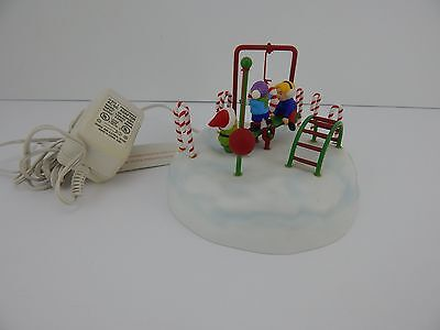 Dept 56 North Pole Series Elfland Frosty Playground #56846 Works Well! No Box