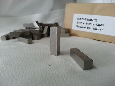 Alnico V Square Bar Cast An Ground 14sq X 1 Long Magnetized Length 1 Each