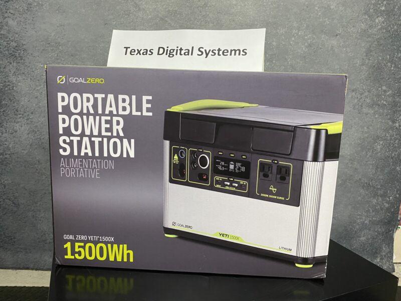 Goal Zero Yeti 1500X Li Portable Power Station Emergency Backup #GZ36300 NEW