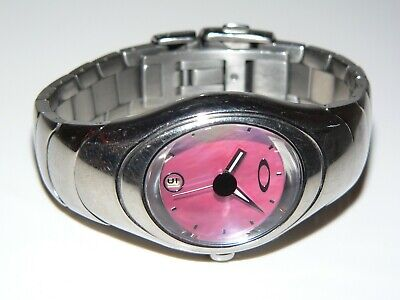 Oakley Timebomb Icon Small Titanium Pink Machine Time Tank Warrant Gmt Uhr Watch (Oakley Sonnenbrille Pink)